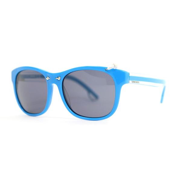Gafas de sol unisex cal.53 acetato - azul
