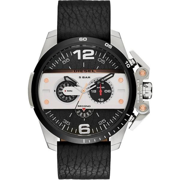 c0b1d2f3be11 Reloj hombre analógico piel - negro plateado DIESEL DZ4361