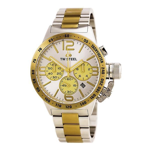 Reloj analógico hombre acero - plateado/dorado