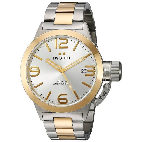Reloj analógico acero hombre - plateado/dorado