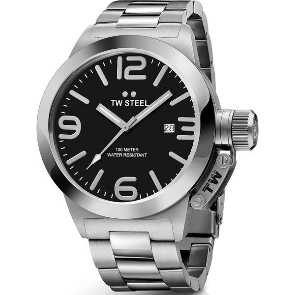 Reloj analógico hombre acero - plata