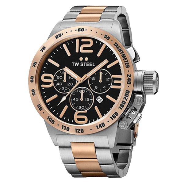 Reloj analógico acero hombre - gris/rosado