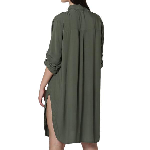 Vestido m/larga mujer - caqui
