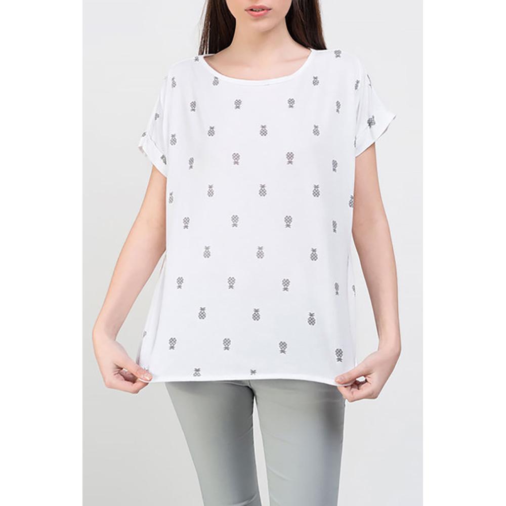 Camiseta mujer - blanco/gris