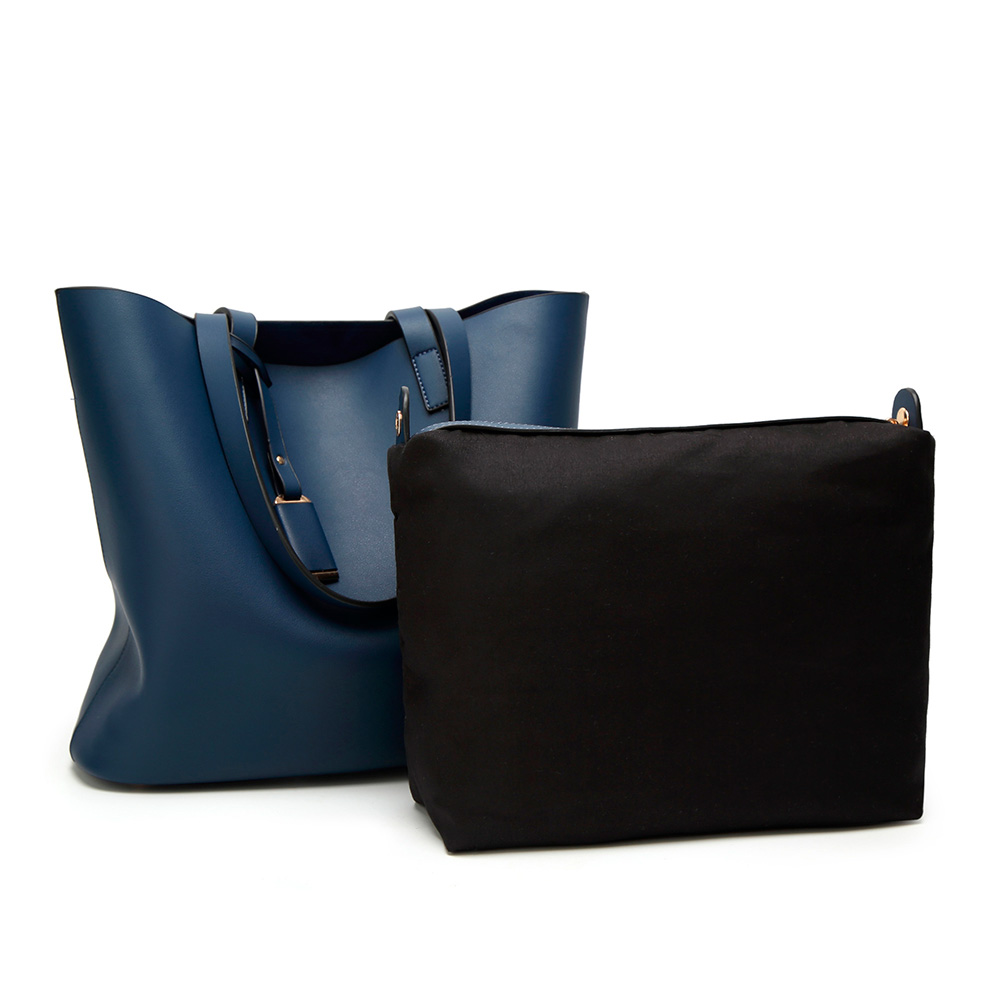 Bolso mujer Tote - azul oscuro