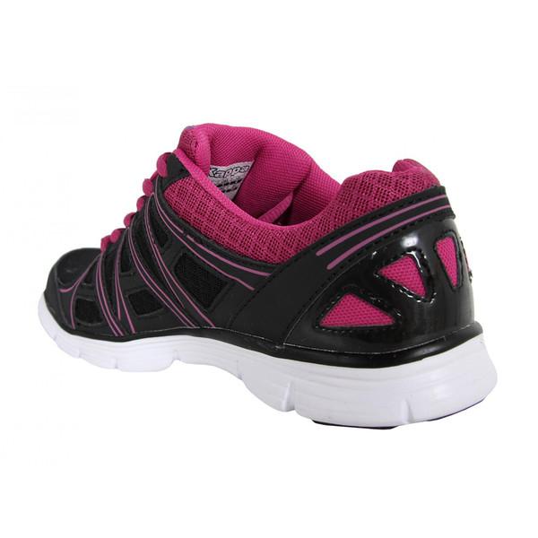 Deportivas con cordones - negro/rosa