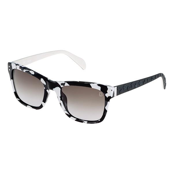 Gafas de sol mujer acetato calibre 52 - blanco/negro