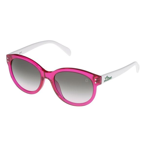 Gafas de sol mujer acetato calibre 54 - fucsia/blanco