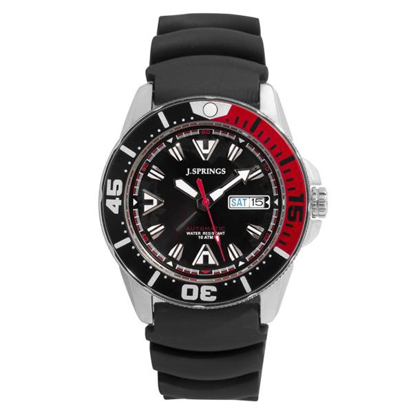 Reloj hombre analógico caucho - negro/rojo