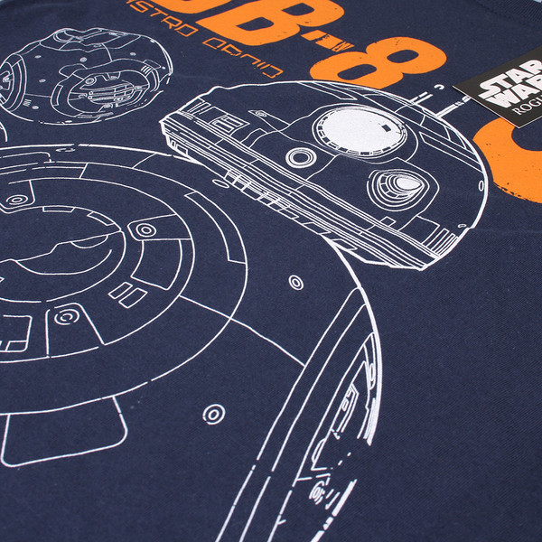 Camiseta m/corta Star wars - marino