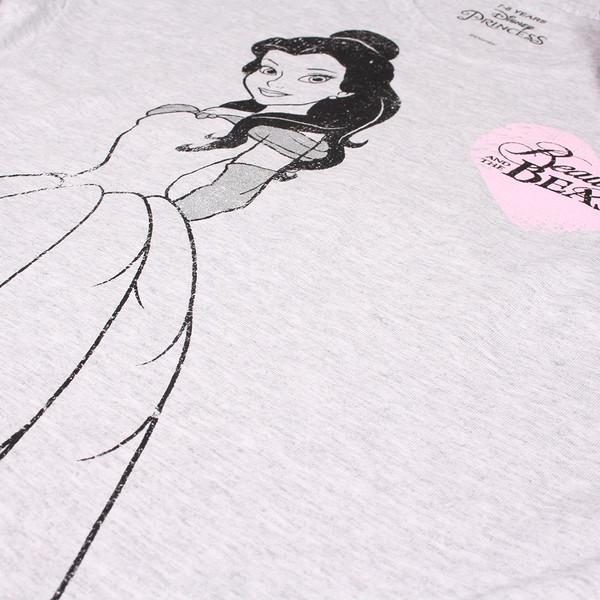 Camiseta m/larga infantil - gris