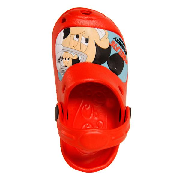Zueco de goma Mickey - rojo