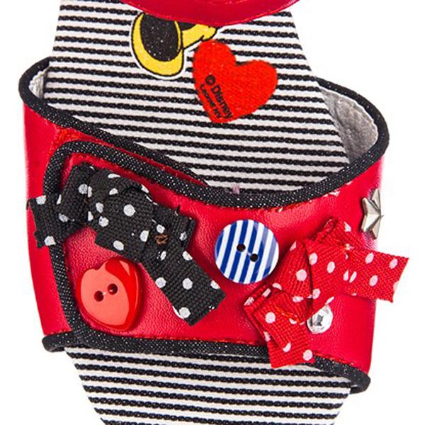 Sandalia mini tacón - rojo/negro