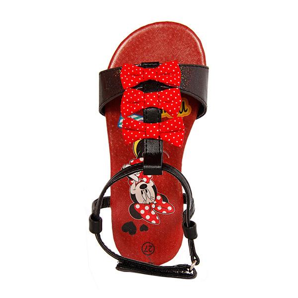Sandalia lazos Minnie - negro