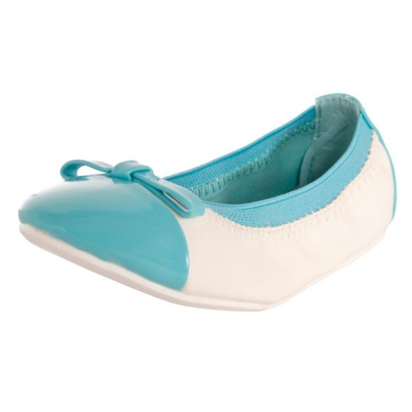 Bailarinas con detalles brillantes - azul claro/blanco