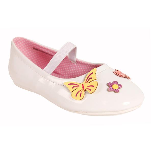 Bailarinas con mariposas - blanco
