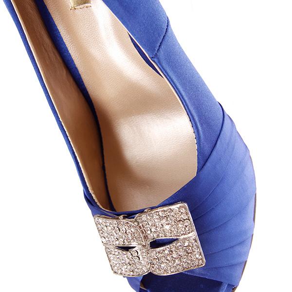 Zapato tacón mujer - azul