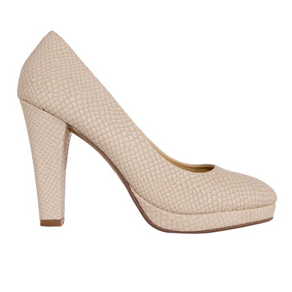 Zapato tacón mujer - beige