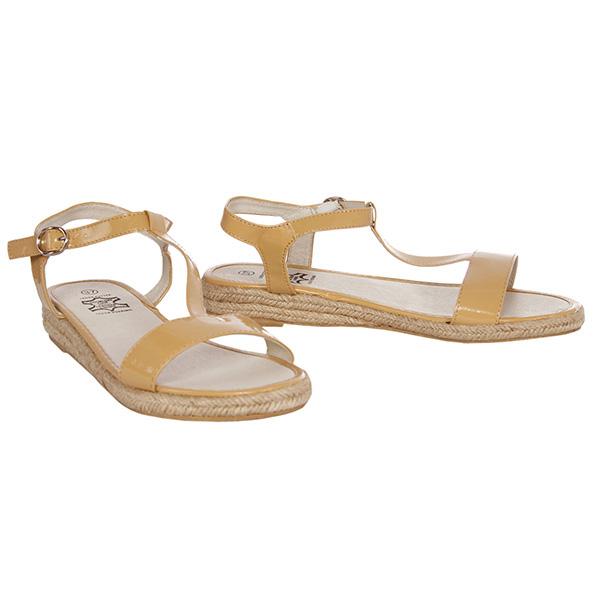 Sandalias planas esparto mujer - beige