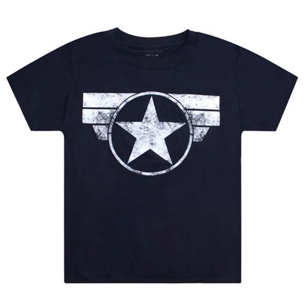 Camiseta Marvel m/corta niño - marino