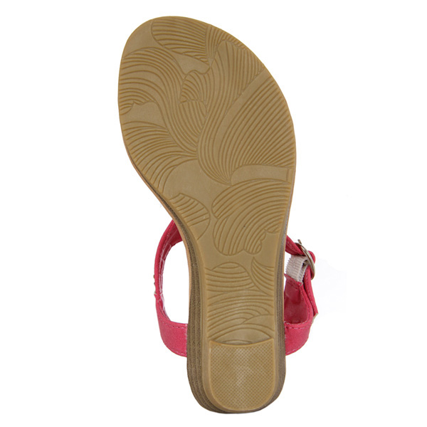 Sandalias de dedo detalles tipo strass - fucsia