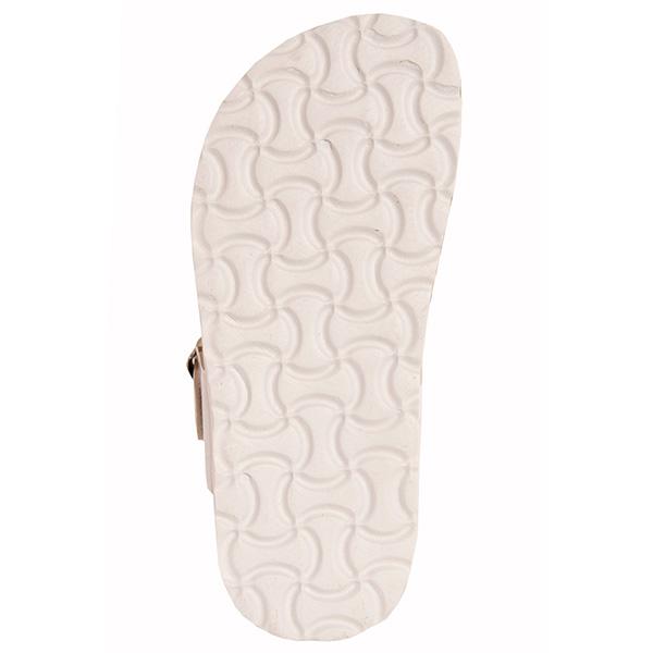 Chanclas flip flop con hebilla - blanco