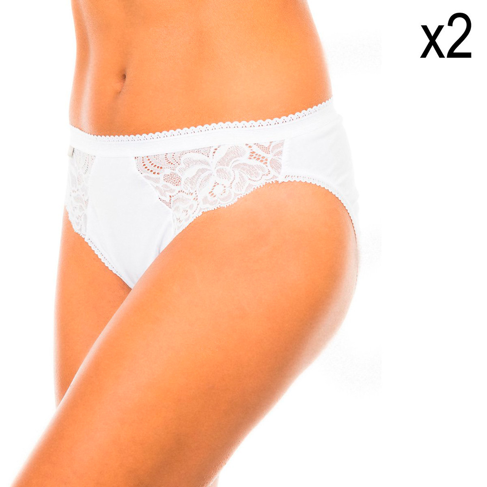 PACK 2 Braguitas bikini - blanco