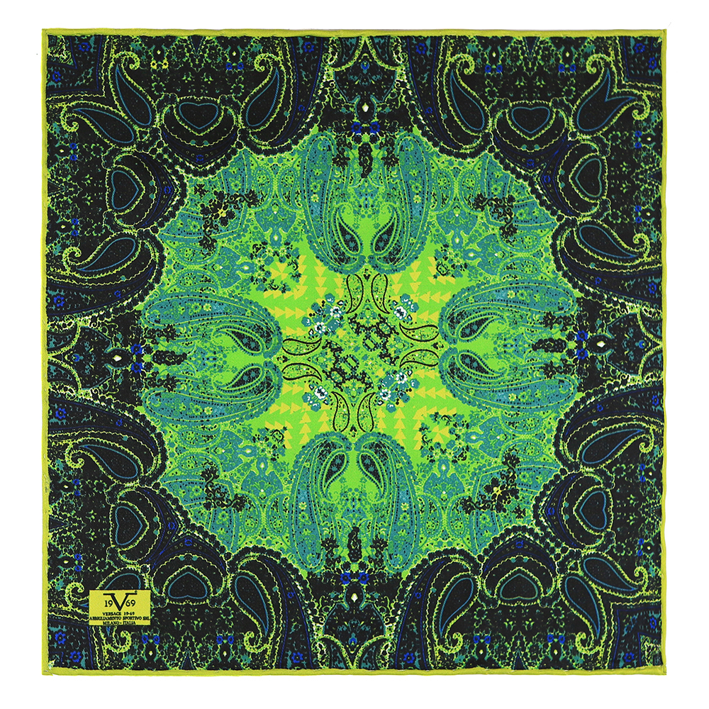 30x30cm Pañuelo bolsillo estampado - verde/negro