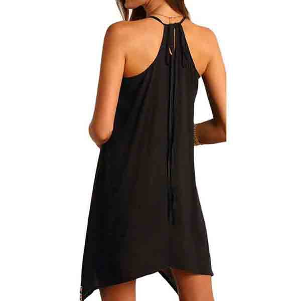 Vestido playero - negro