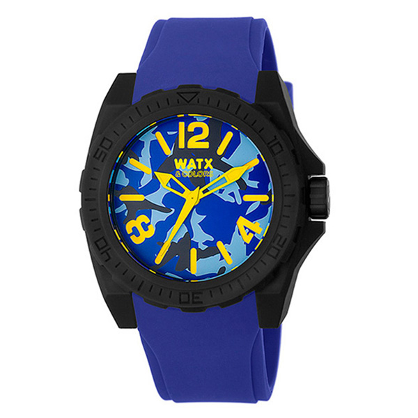 Reloj analógico unisex silicona - azul