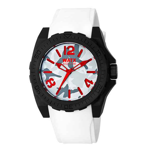 Reloj analógico unisex silicona - blanco