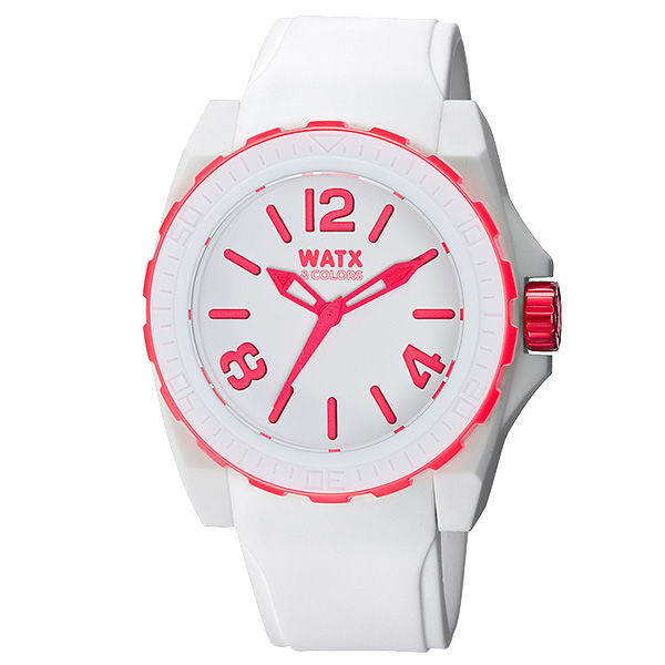 Reloj analógico silicona unisex - blanco