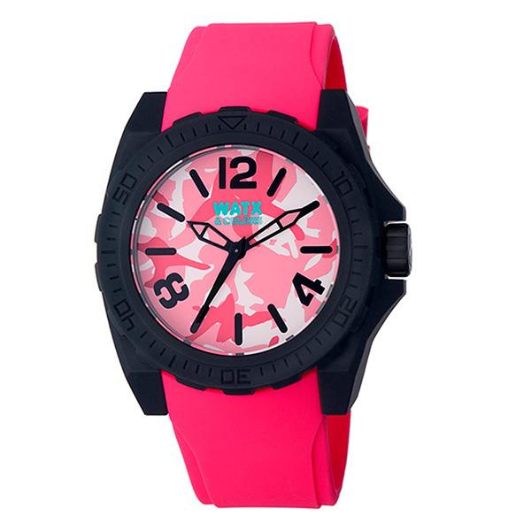 Reloj analógico unisex silicona - rosa