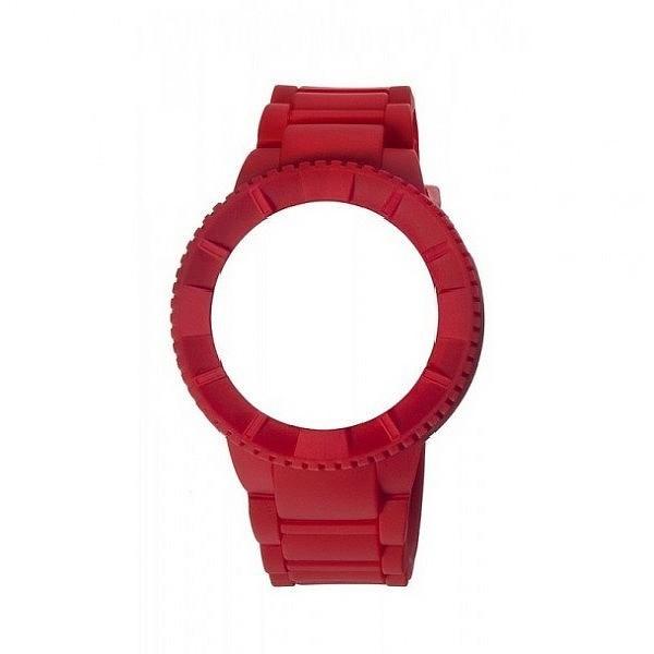 Carcasa reloj hombre caucho - rojo