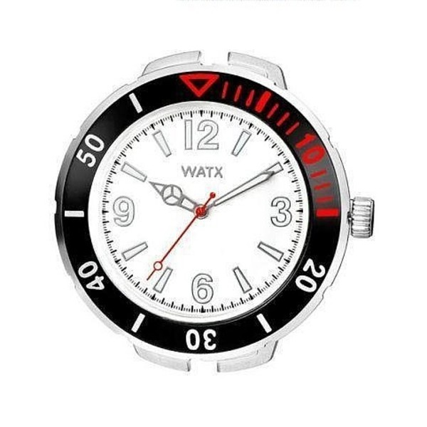 Reloj analógico acero unisex - blanco