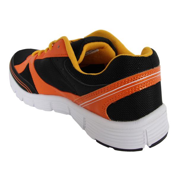 Deportiva trainning Ronan infantil - negro/naranja
