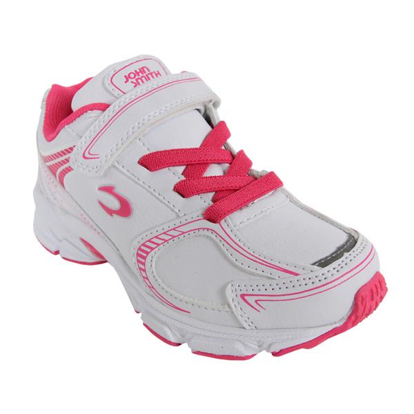 Sneaker junior - blanco/rosa