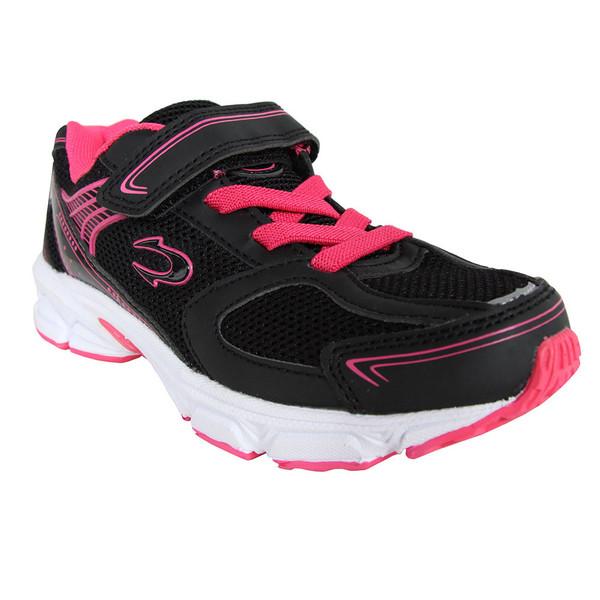 Sneaker junior - negro/fucsia