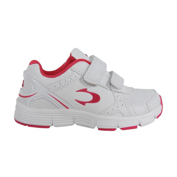 Deportivas con velcro - blanco/rosa