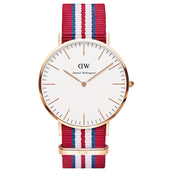 Reloj analógico nylon hombre - blanco/rojo/azul