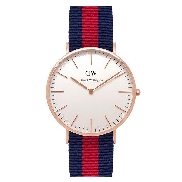 Reloj analógico nylon hombre - marino/rojo