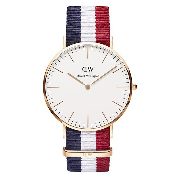Reloj analógico hombre - marino/rojo/blanco