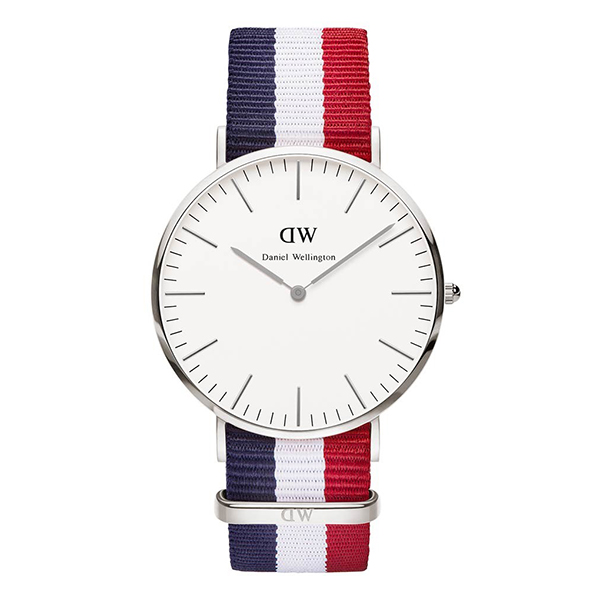 Reloj analógico nylon hombre - marino/blanco/rojo