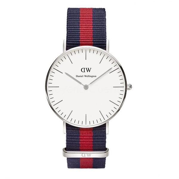 Reloj analógico mujer nylon - rojo/marino