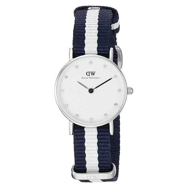 Reloj analógico mujer nylon - azul/blanco