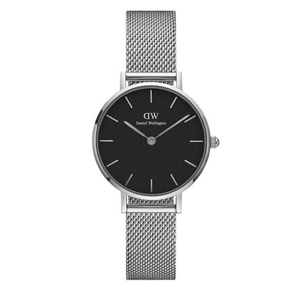 Reloj analógico mujer acero - plata/negro