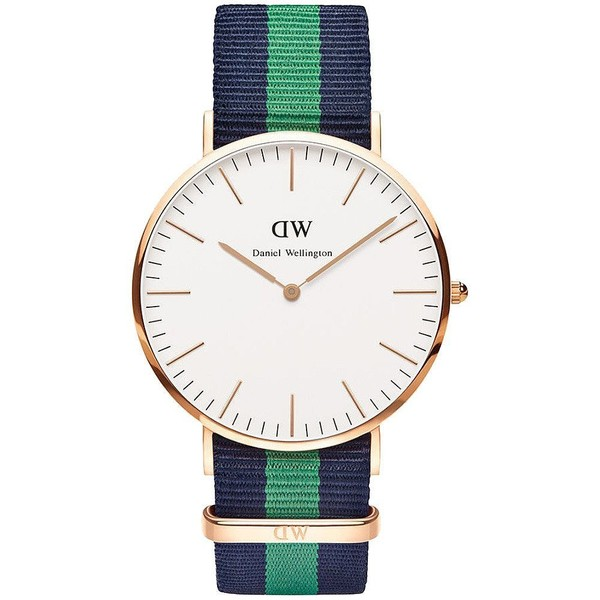 Reloj analógico nylon hombre - azul/verde