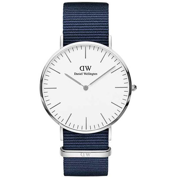 Reloj analógico nylon hombre - blanco/azul