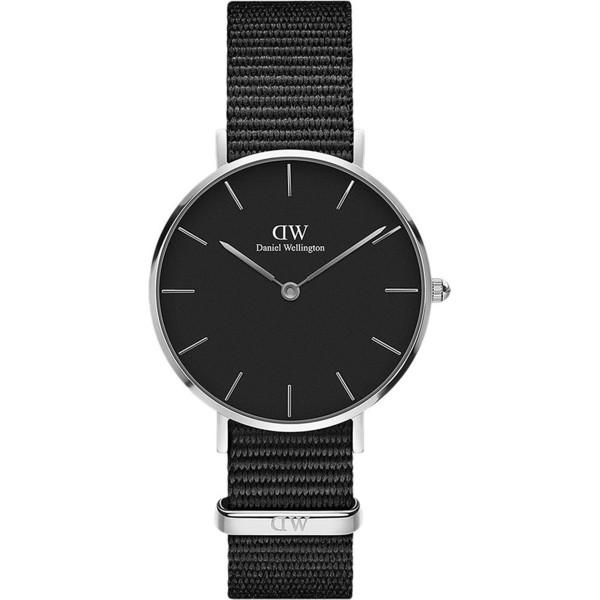 Reloj analógico nylon mujer - negro