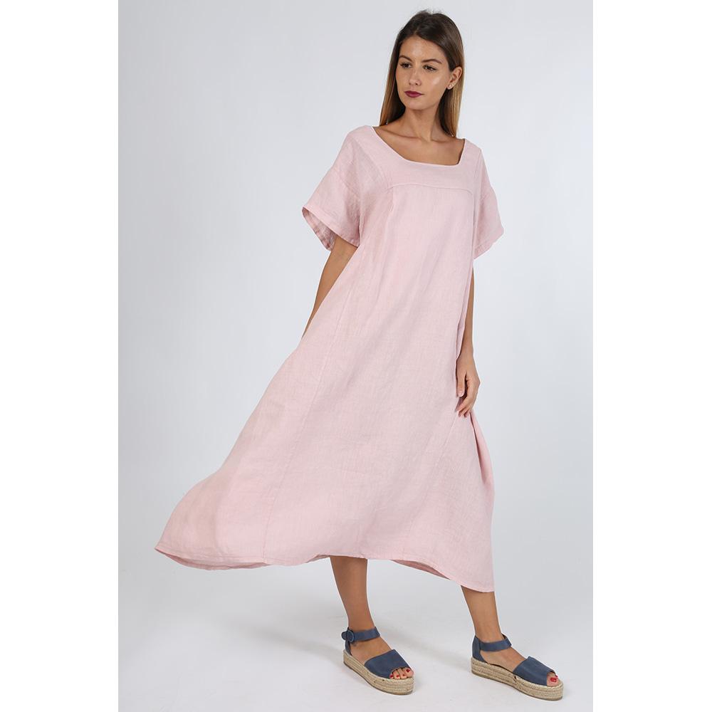 Vestido de lino - rosa